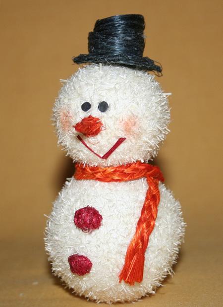 Mu ecos de nieve artesanales de abaca 6 unidades peque o for Cosas artesanales para navidad