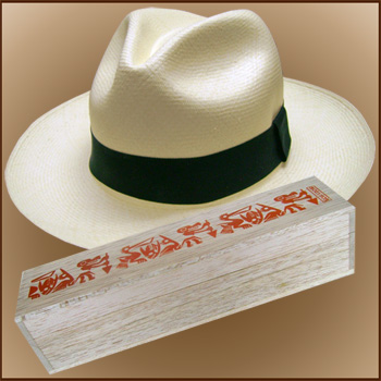 03ab4ddc Panama Hat Montecristi (11-12) + Hat raft wood box painted by hand